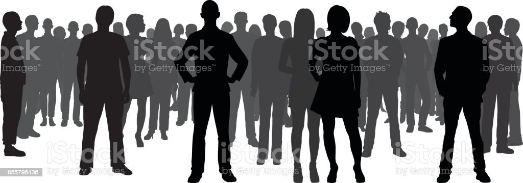 Crowd (All People Are Complete and Moveable) Crowd of people. All people are complete, moveable and highly detailed. Adult stock vector
