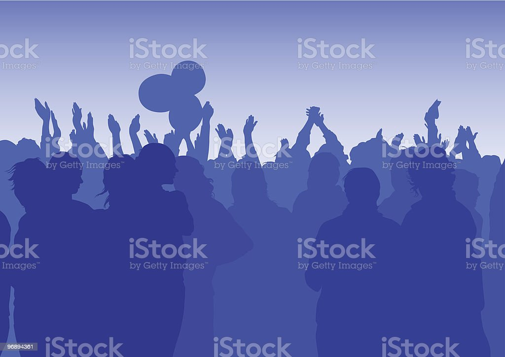Crowd with their hands royalty-free crowd with their hands stock vector art & more images of adolescence