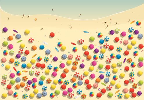 Beach stock illustrations