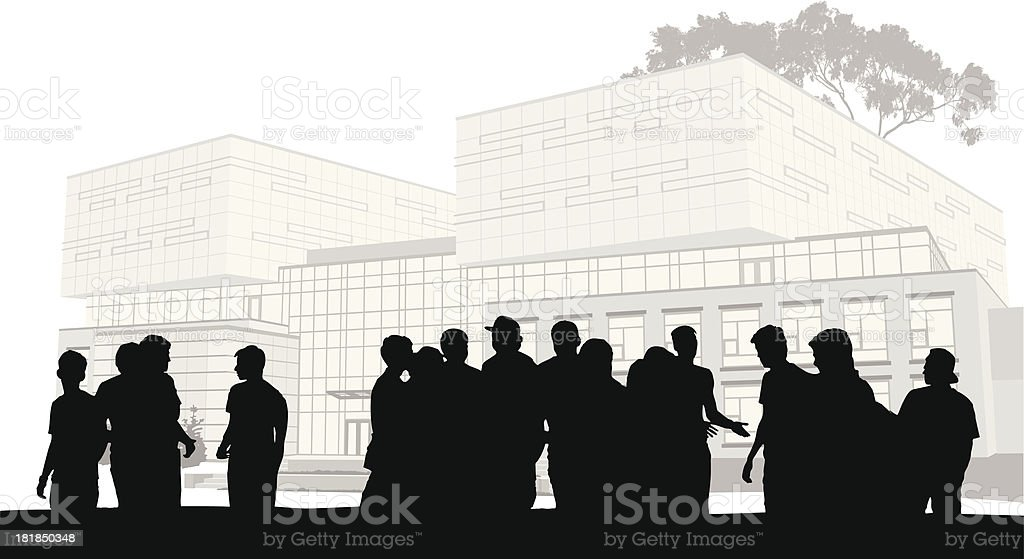 Crowded Campus royalty-free stock vector art