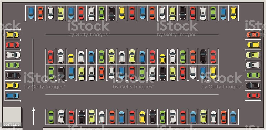 royalty free parking lot clip art vector images illustrations rh istockphoto com parking lot clipart parking lot repair clipart