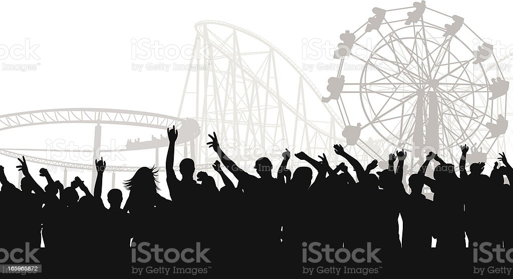 Crowded Park Vector Silhouette royalty-free crowded park vector silhouette stock vector art & more images of adult