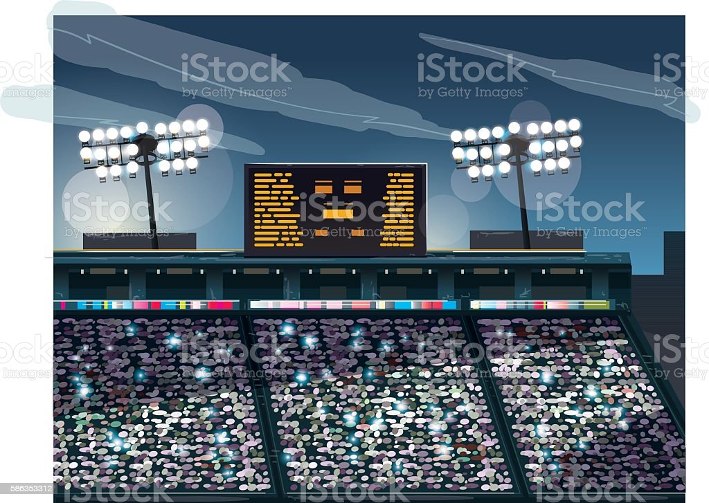 Crowded stadium – Vektorgrafik