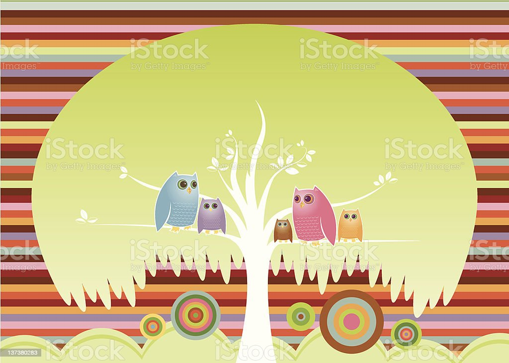 Crowded Tree royalty-free stock vector art