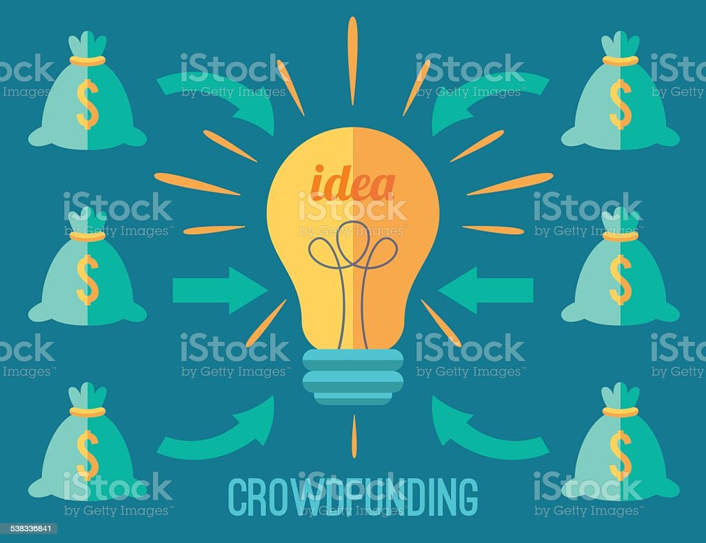 Crowdfunding concept Crouwdfunding concept Crowdfunding stock vector
