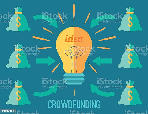 Crowdfunding Concept Stock Illustration - Download Image Now