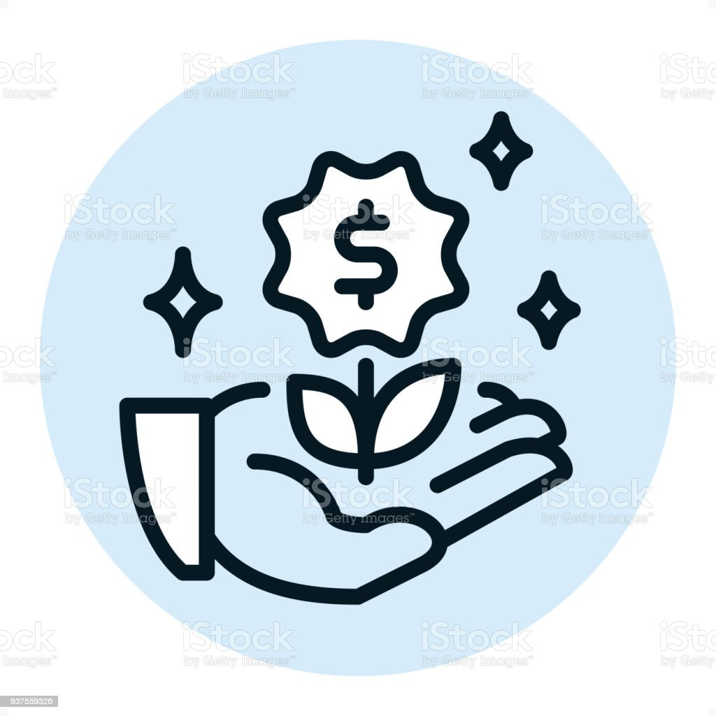crowdfunding pixel perfect single line icon stock vector art more