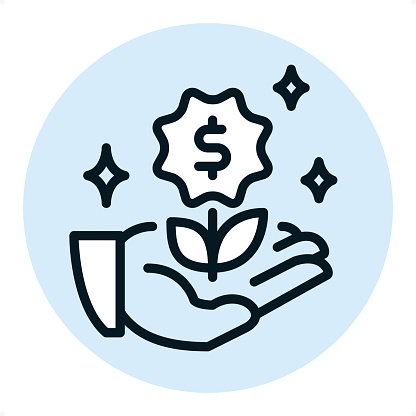 Crowdfunding - Pixel Perfect Single Line Icon