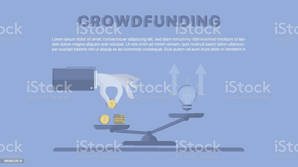 Crowdfunding. royalty-free crowdfunding stock vector art & more images of beginnings