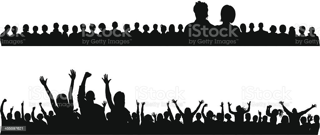 Crowds (People Are Detailed and Complete Down to the Waste) royalty-free stock vector art