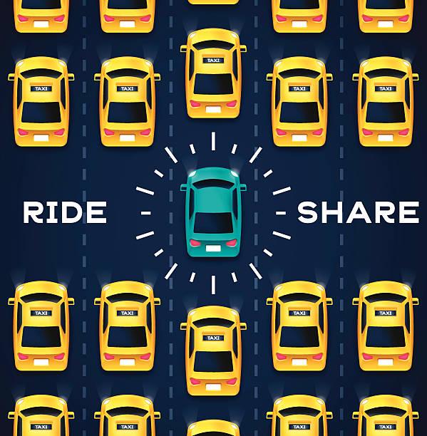 Crowdsourced Transportation Services vector art illustration