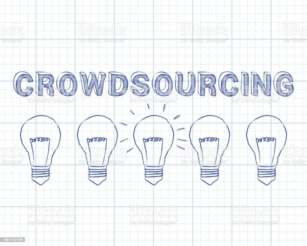 Crowdsourcing light bulbs graph paper stock vector art 681704438 bank graph uk blueprint capital malvernweather Image collections
