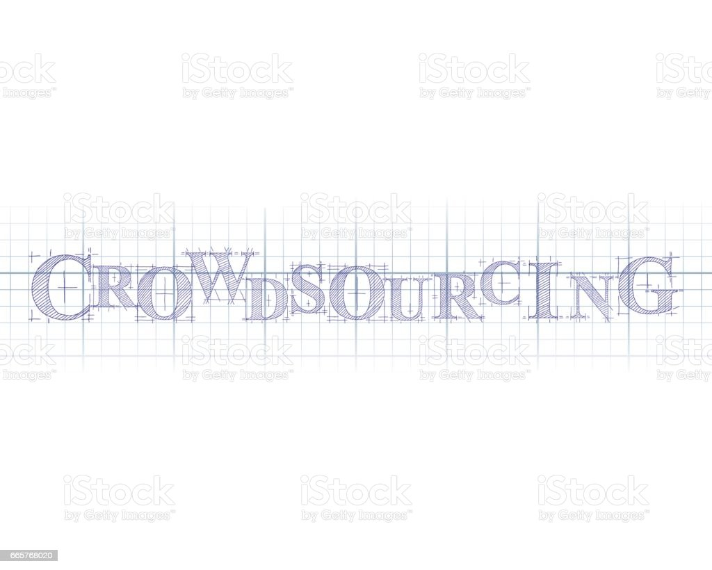 Crowdsourcing technical word stock vector art 665768020 istock bank blueprint graph uk capital malvernweather Image collections