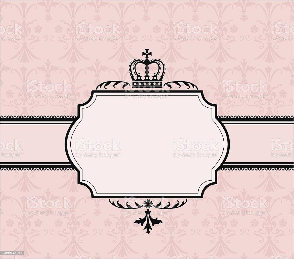 Crown Banner vector art illustration