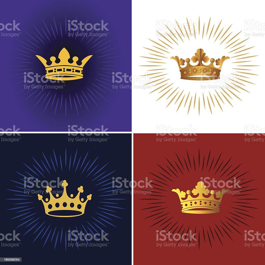 Crown Burst royalty-free stock vector art