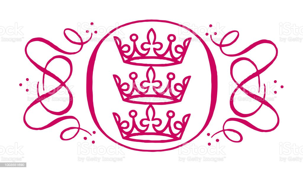 Crown Design Element vector art illustration