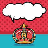 crown doodle, speech bubble