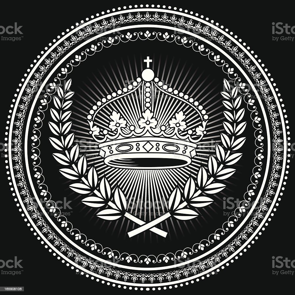 Crown Emblem royalty-free crown emblem stock vector art & more images of abstract
