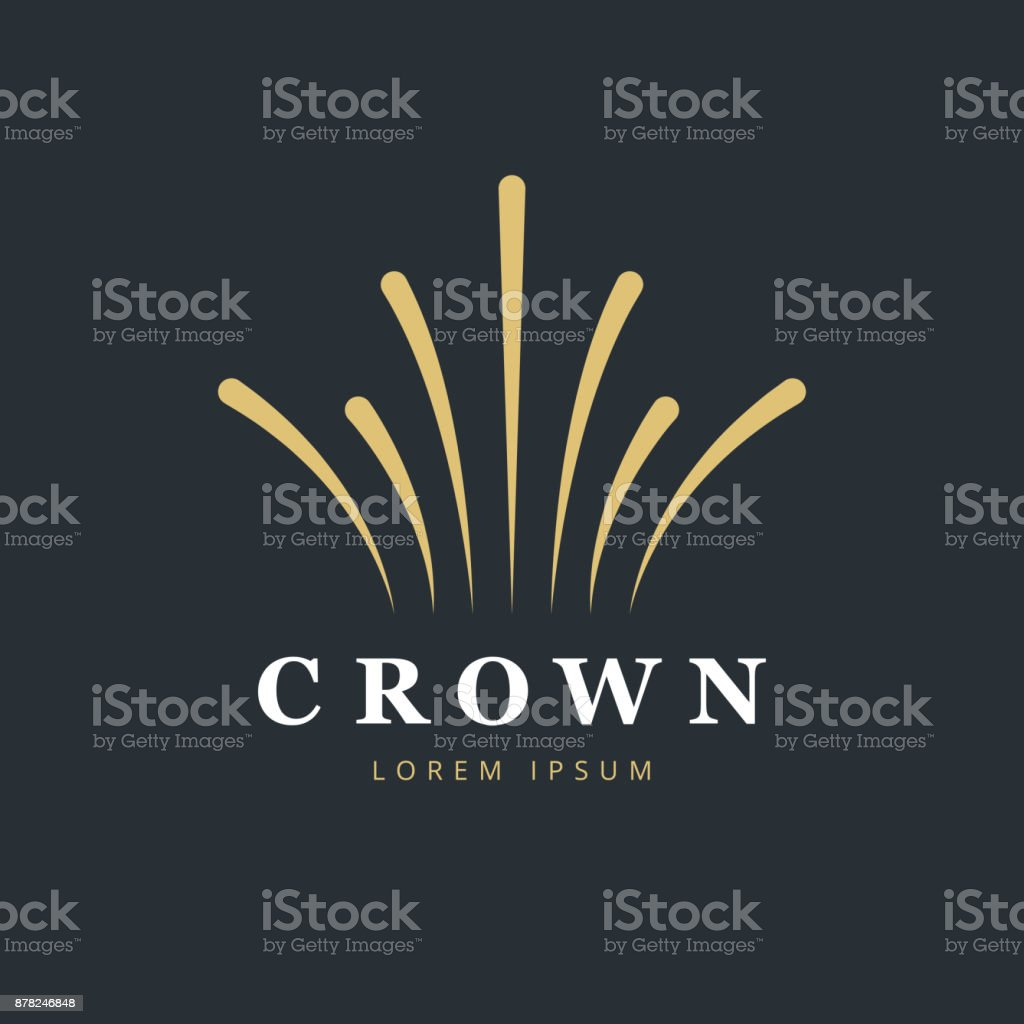 Crown fireworks icon design. Creative abstract icon vector template. vector art illustration