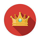 Crown Flat Design Fantasy Icon