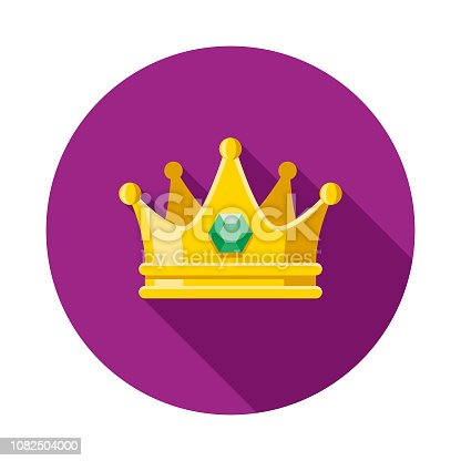 istock Crown Flat Design Mardi Gras Icon 1082504000