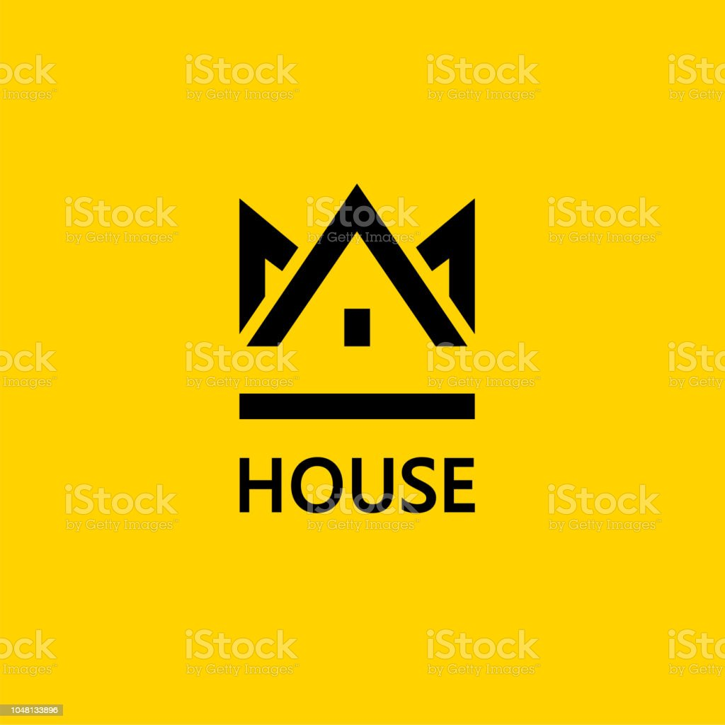 Crown House Vector Design Element Real Estate House Icon