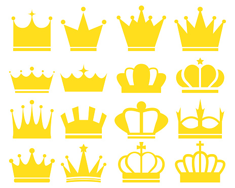 crown icon.  crown awards for winners, champions, leadership.