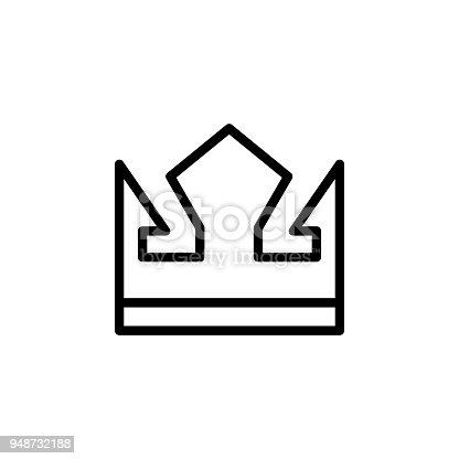 Ilustrao de cone da coroa elemento de cones minimalistas para ilustrao de cone da coroa elemento de cones minimalistas para mveis conceito e aplicativos web cone de linha fina para web design e desenvolvimento ccuart Gallery
