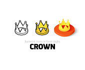 Crown icon in different style