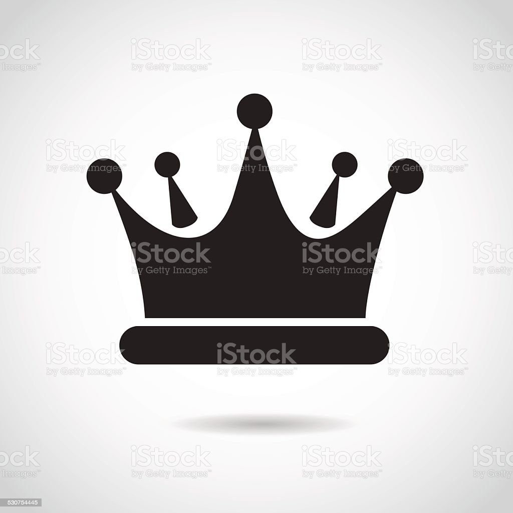 Crown icon isolated on white background. vector art illustration