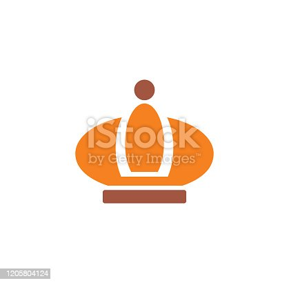 istock Crown icon on background for graphic and web design. Creative illustration concept symbol for web or mobile app. 1205804124