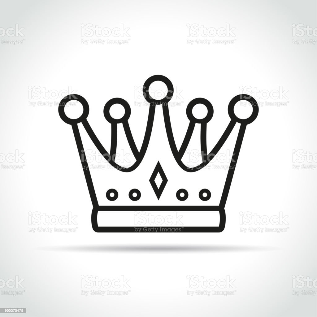crown icon on white background crown icon on white background - stockowe grafiki wektorowe i więcej obrazów autorytet royalty-free