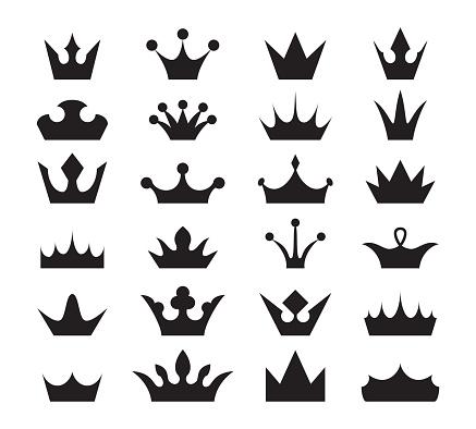 Crown icon set.
