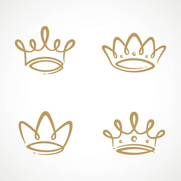 Conjunto de icono de una corona - ilustración de arte vectorial