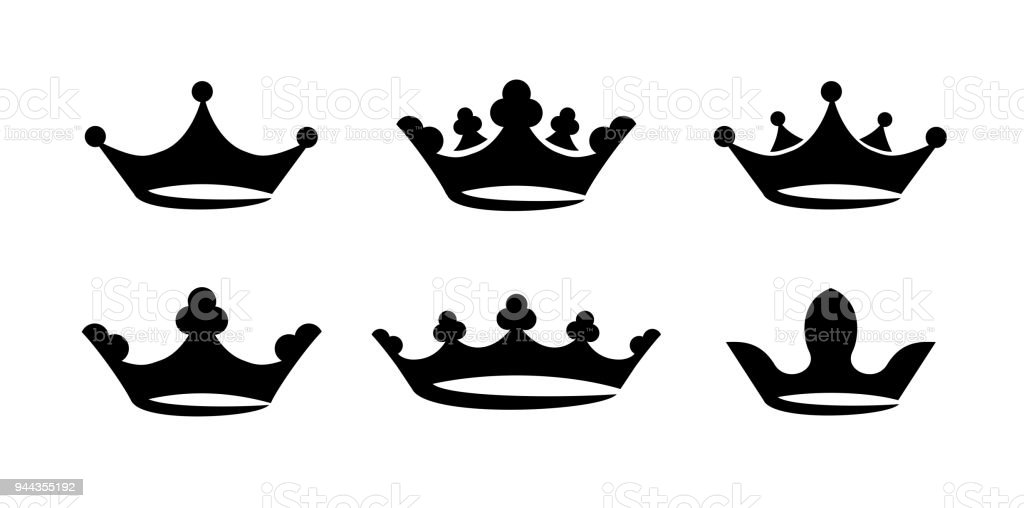 crown icon set vector stock vector art more images of authority rh istockphoto com free vector crown images free vector crown illustration