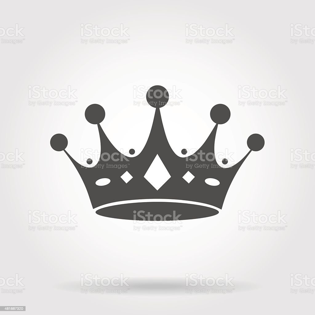 Crown icon vector art illustration
