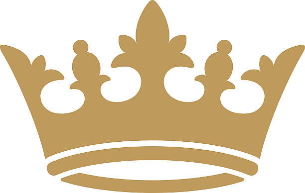 Crown icon Gold crown icon crown headwear stock illustrations