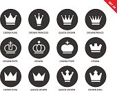 Crown icons on white background