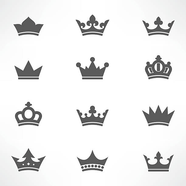 crown icons set - 皇冠 頭飾 幅插畫檔、美工圖案、卡通及圖標