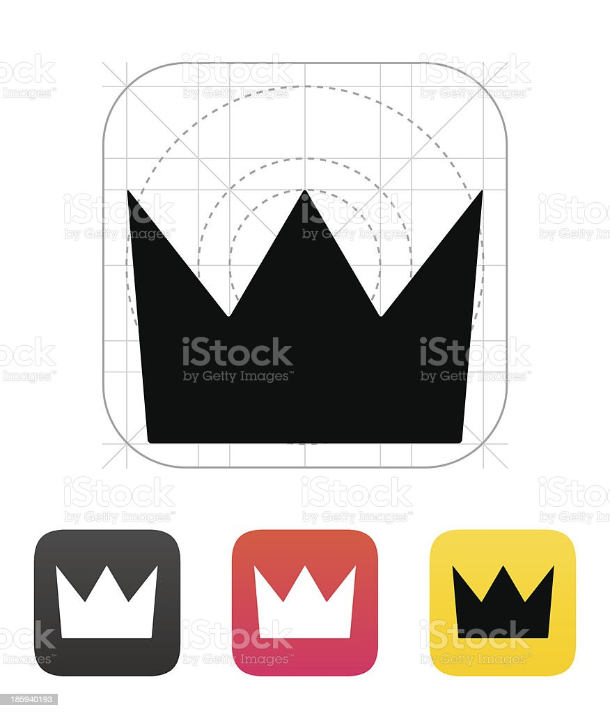 Crown King icons. Vector illustration. royalty-free stock vector art