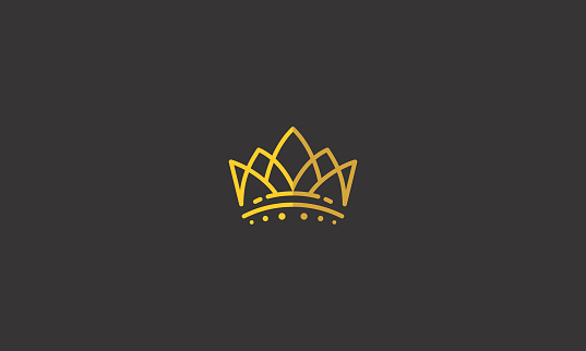 crown king line art icon vector