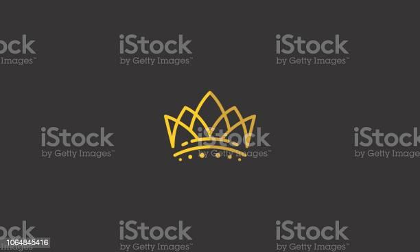 Roi De La Couronne Ligne Art Logo Icône Vecteur Vecteurs libres de droits et plus d'images vectorielles de Abstrait