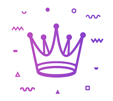 Crown Line Style Icon Design