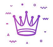 istock Crown Line Style Icon Design 1156078224