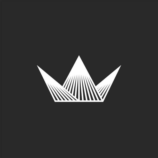Luxury Gold Logo Mockup Design: Icon Crown Logo Mockup Jewel King Or Queen Royal Symbol