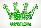 Crown  Nature and Environmental Conservation Icon Pattern