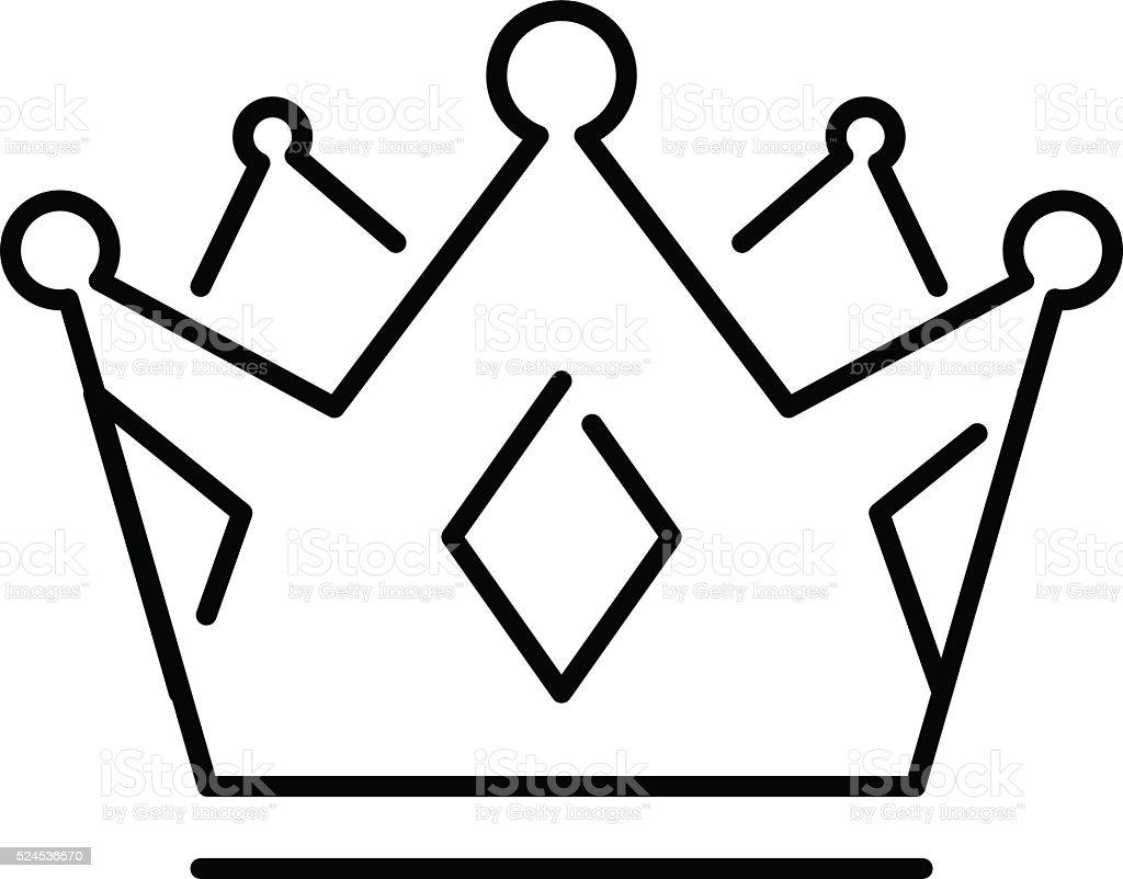 Ilustración de Corona De La Cama Rey O De Corona Real De Art Icono y ...