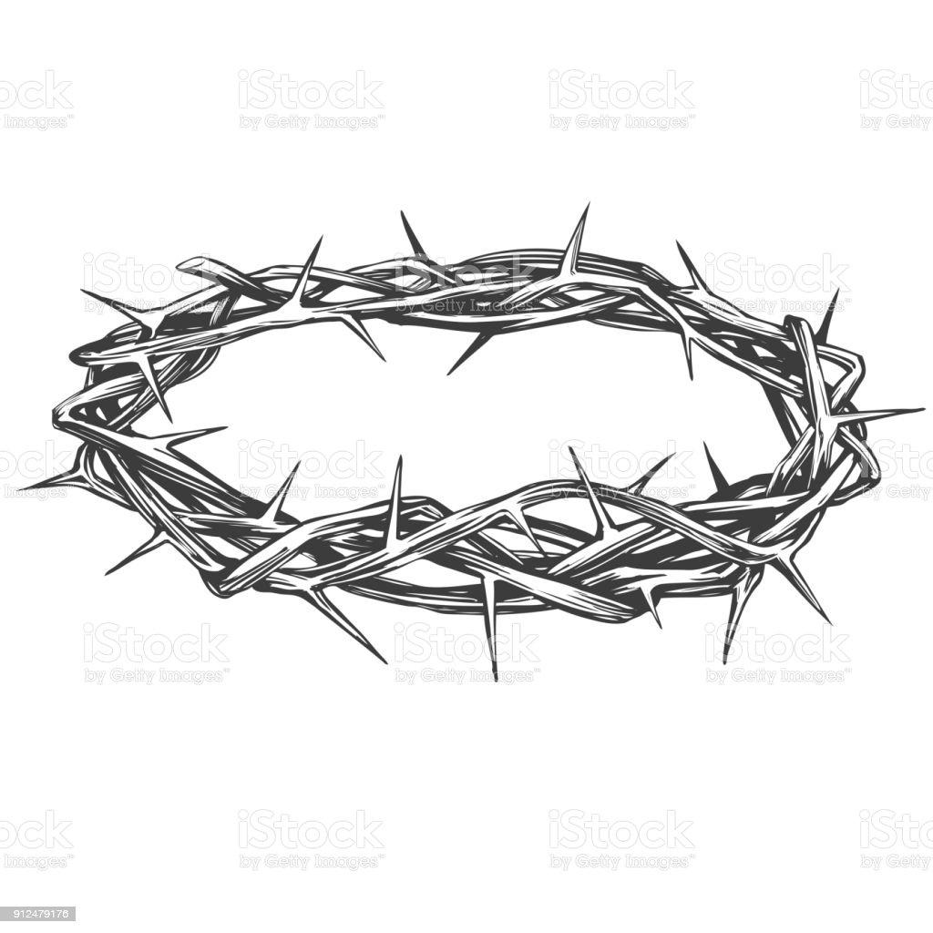 Corona De Espinas Simbolo Religioso De Semana Santa De