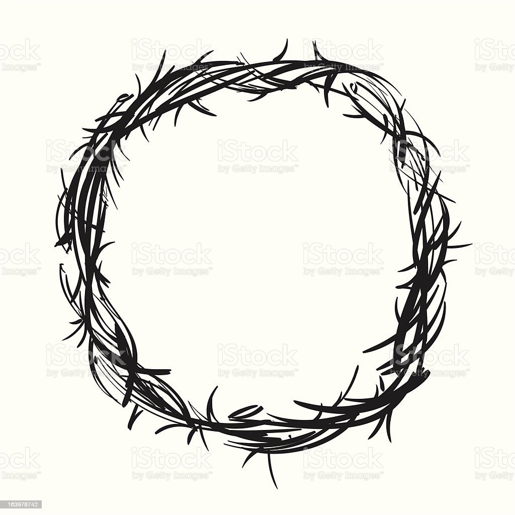 crown of thorns royalty-free stock vector art