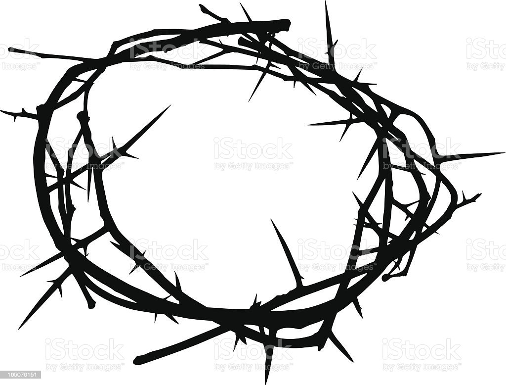 crown of thorns stock vector art more images of black color rh istockphoto com  crown of thorns clipart free